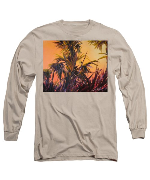 Palmettos At Dusk Long Sleeve T-Shirt