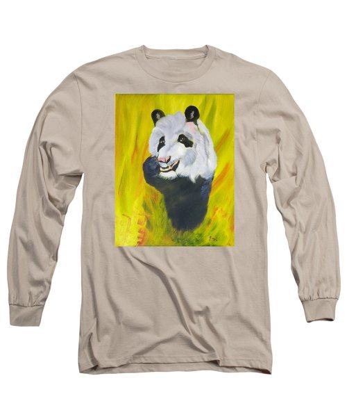 Panda-monium Long Sleeve T-Shirt by Meryl Goudey