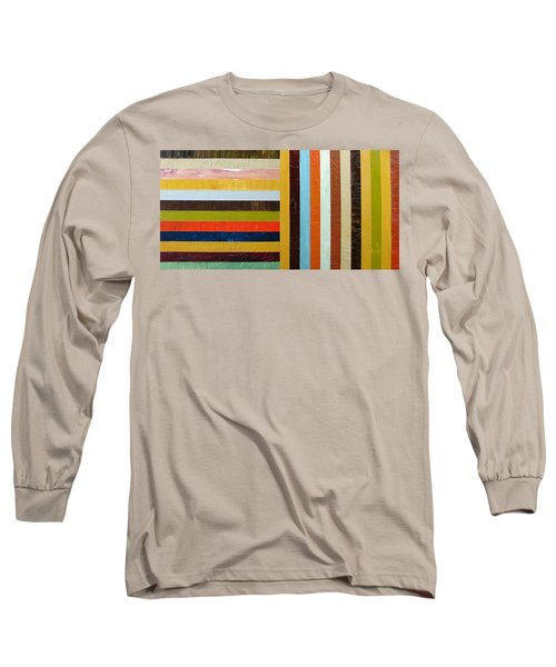 Panel Abstract L Long Sleeve T-Shirt