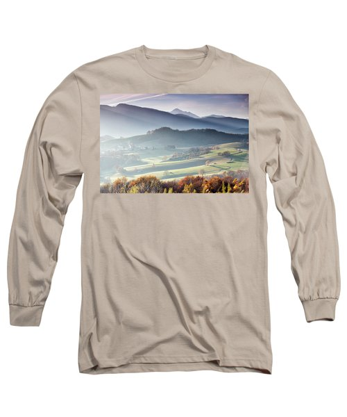 Panoramic Photograph Taken From Lourdes Long Sleeve T-Shirt