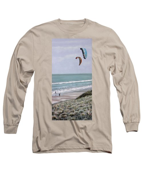 Papamoa Beach 090208 Long Sleeve T-Shirt by Sylvia Kula