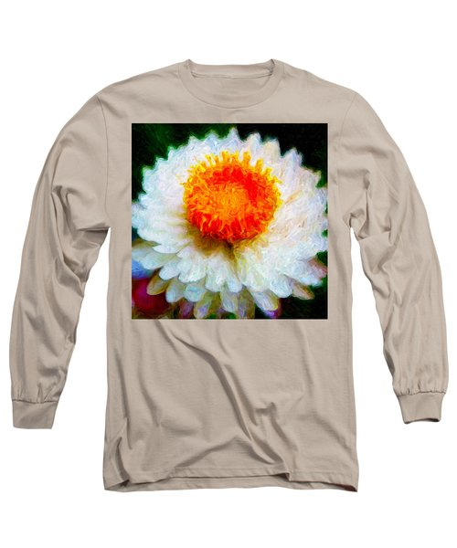 Paper Daisy Long Sleeve T-Shirt by Chuck Mountain