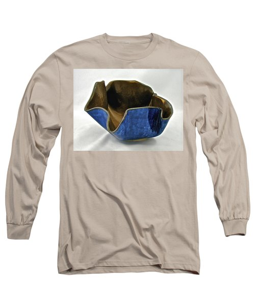 Long Sleeve T-Shirt featuring the sculpture Paper-thin Bowl  09-005 by Mario Perron