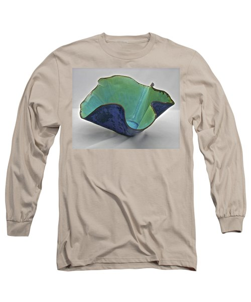 Long Sleeve T-Shirt featuring the sculpture Paper-thin Bowl  09-006 by Mario Perron