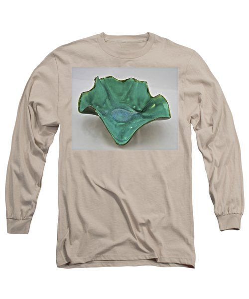 Long Sleeve T-Shirt featuring the sculpture Paper-thin Bowl  09-009 by Mario Perron
