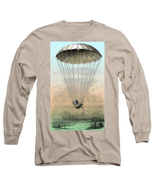 Parachute Descent, 1797 Long Sleeve T-Shirt