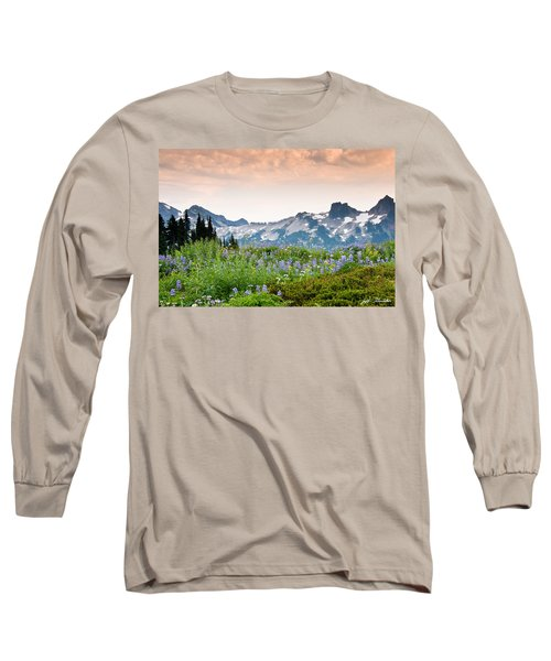 Paradise Meadows And The Tatoosh Range Long Sleeve T-Shirt