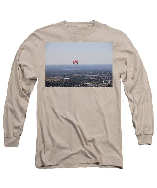 Long Sleeve T-Shirt featuring the photograph Paragliding Over Golden by Chris Thomas