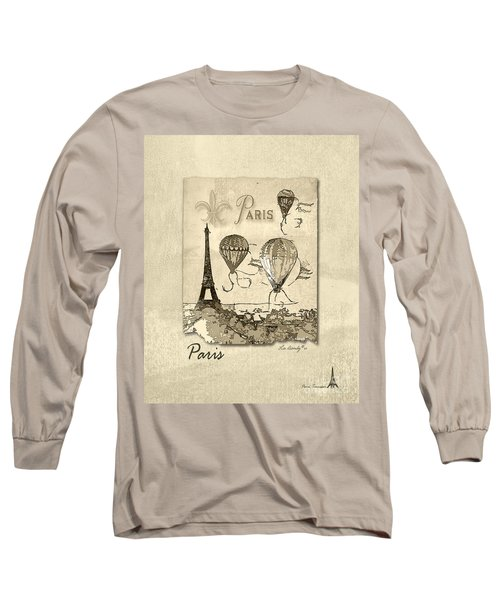 Paris In Sepia Long Sleeve T-Shirt