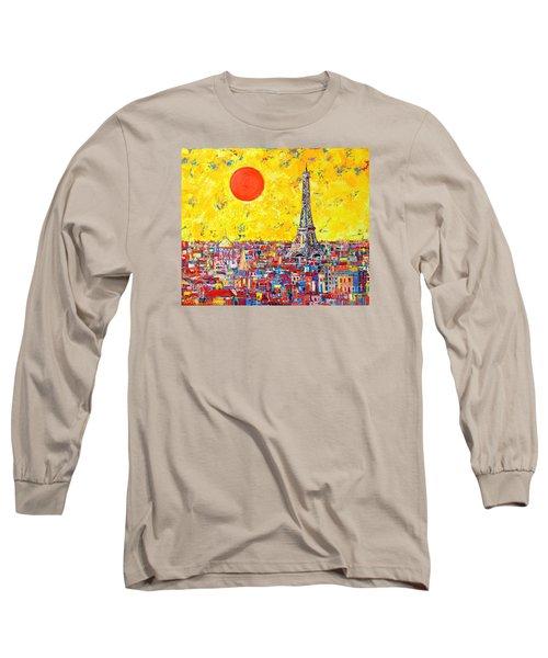 Paris In Sunlight Long Sleeve T-Shirt by Ana Maria Edulescu