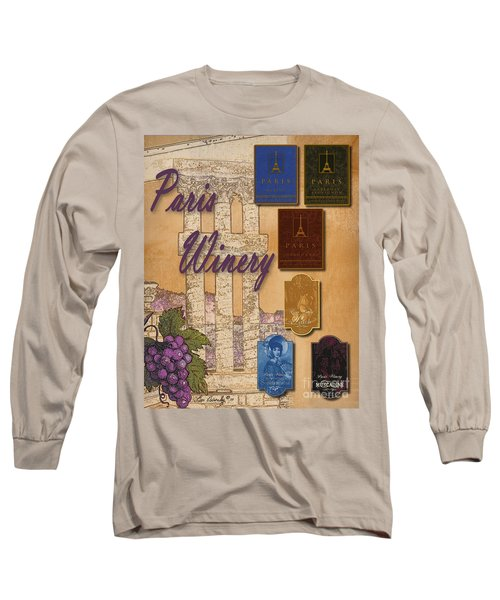 Paris Winery Labels Long Sleeve T-Shirt