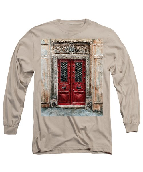 Parisian Door No.82 Long Sleeve T-Shirt by Joey Agbayani