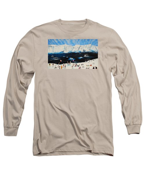 Party At Antarctic Long Sleeve T-Shirt by Raymond Perez