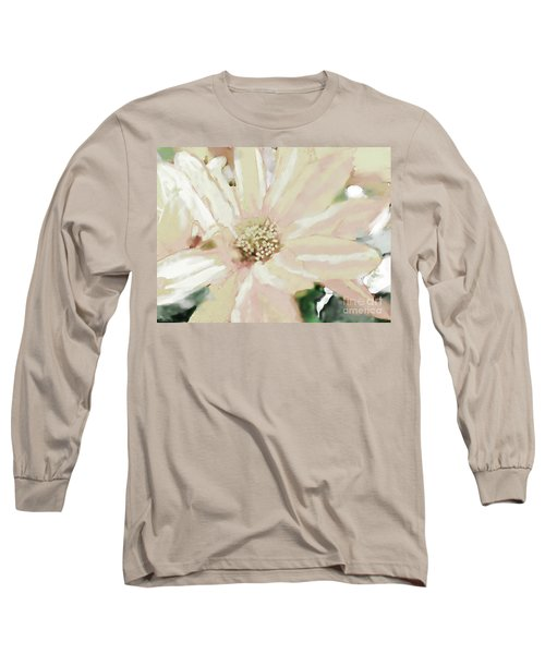 Pastel Daisy Photoart Long Sleeve T-Shirt by Debbie Portwood