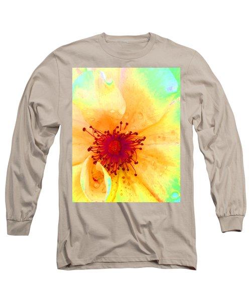 Pastel Garden Long Sleeve T-Shirt by Charlotte Schafer