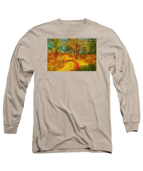 Path Through The Woods Long Sleeve T-Shirt by William Beuther