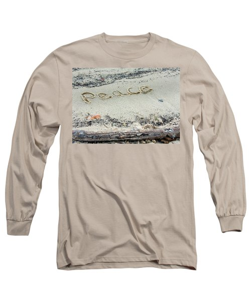 Peace On Earth Long Sleeve T-Shirt by Melinda Fawver