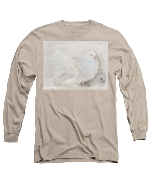 Peaceful Existence White On White Long Sleeve T-Shirt