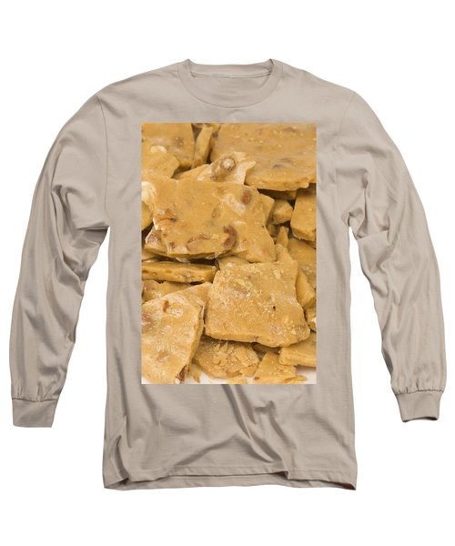 Peanut Brittle Closeup Long Sleeve T-Shirt by Vizual Studio