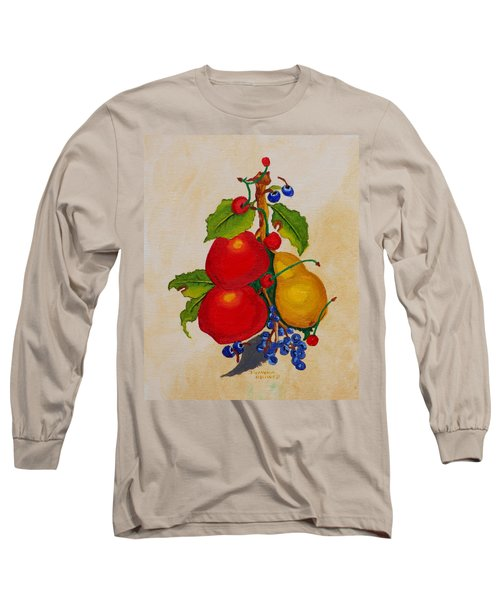 Pear And Apples Long Sleeve T-Shirt by Johanna Bruwer