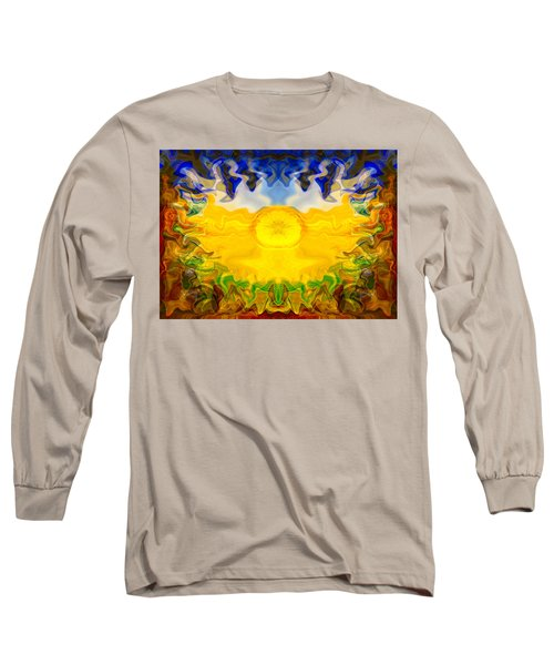Long Sleeve T-Shirt featuring the painting Pearlescent  by Omaste Witkowski