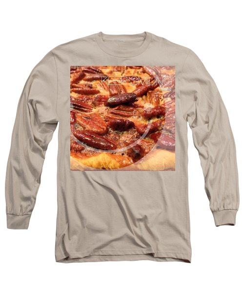 Pecan Pie - Baking On Thanksgiving Eve Long Sleeve T-Shirt