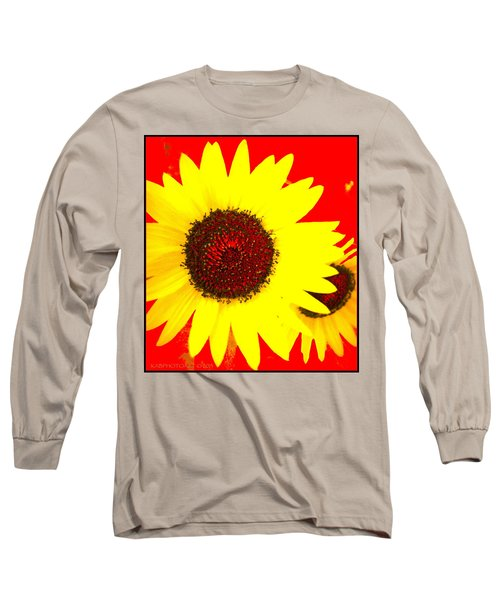 Long Sleeve T-Shirt featuring the photograph Peek A Boo by Kathy Barney