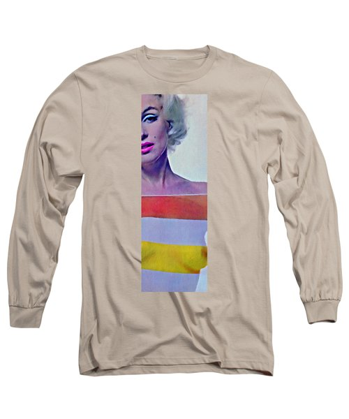 Peek A Boo Marilyn  Monroe Long Sleeve T-Shirt by Joan Reese