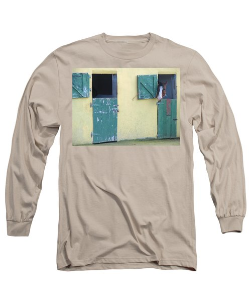 Long Sleeve T-Shirt featuring the photograph Peekaboo by Suzanne Oesterling