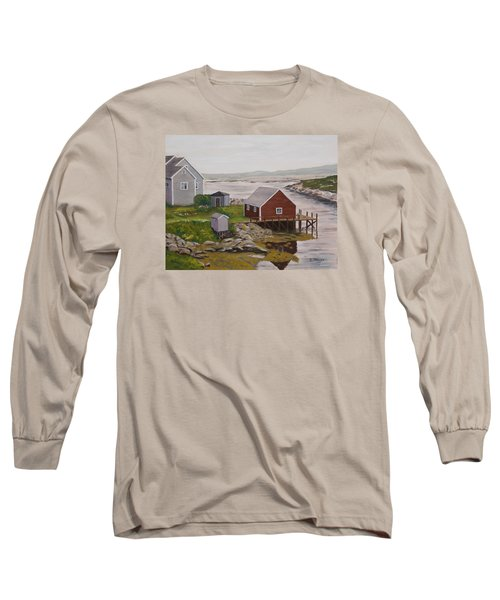 Peggy's Cove Long Sleeve T-Shirt by Alan Mager
