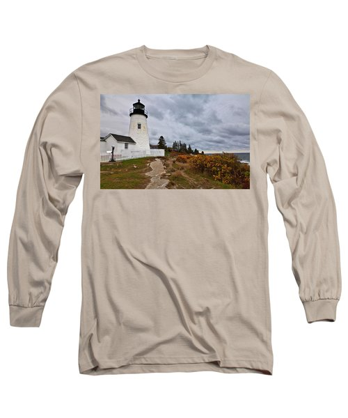Stormy Autumn Day At Pemaquid Point Lighthouse Long Sleeve T-Shirt