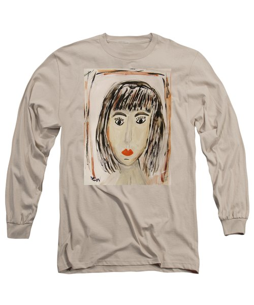 Pensive M.  Long Sleeve T-Shirt by Mary Carol Williams