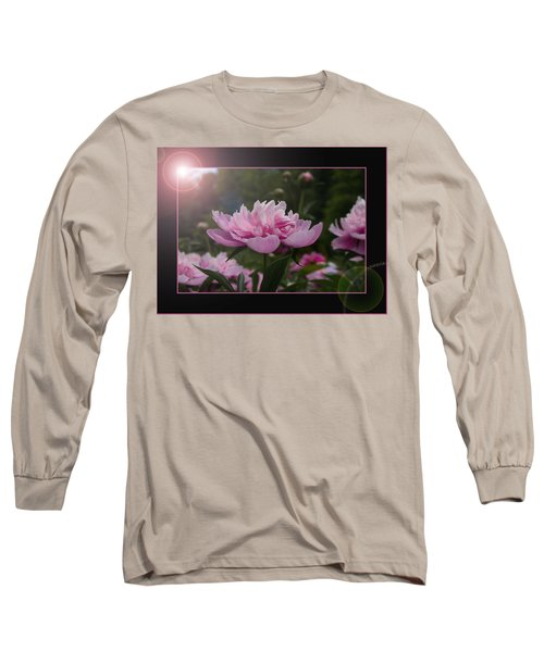 Peony Garden Sun Flare Long Sleeve T-Shirt by Patti Deters