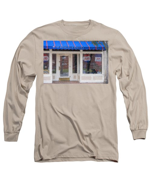 Pepsi Cola Birthplace Watercolor Long Sleeve T-Shirt