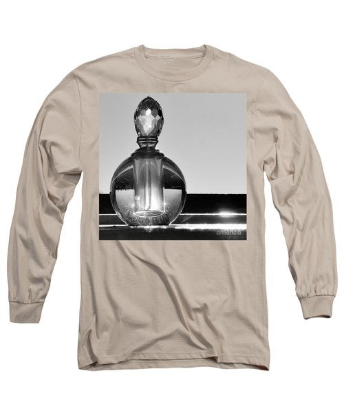 Long Sleeve T-Shirt featuring the photograph Perfume Bottle Inversion by Lilliana Mendez