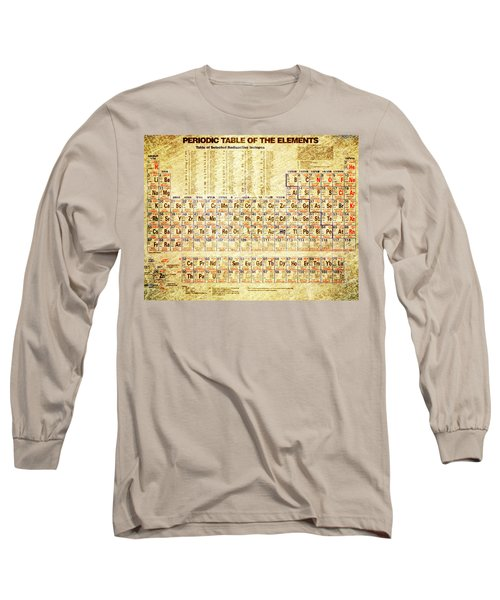 Periodic Table Of The Elements Vintage White Frame Long Sleeve T-Shirt
