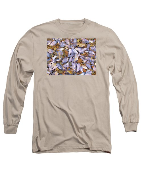 Periwinkles Muscles And Clams Long Sleeve T-Shirt by Elizabeth Dow