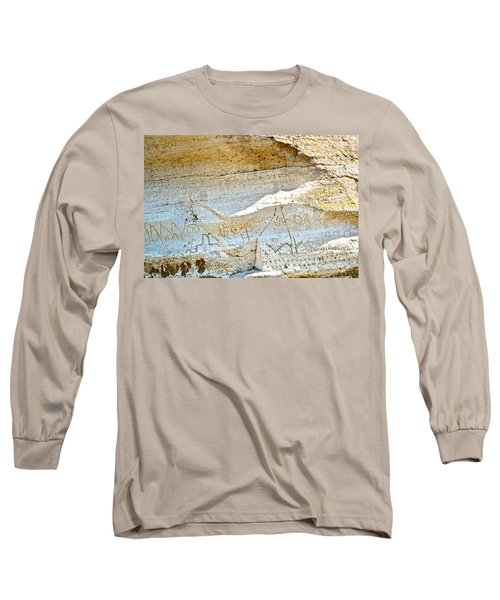 Petroglyphs At Petroglyph Point In Lava Beds Nmon-ca Long Sleeve T-Shirt