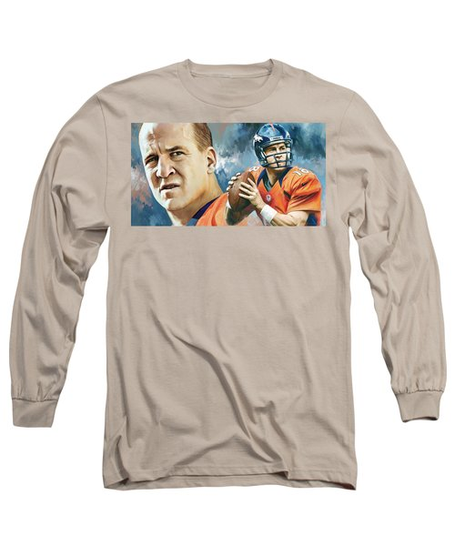 Peyton Manning Artwork Long Sleeve T-Shirt