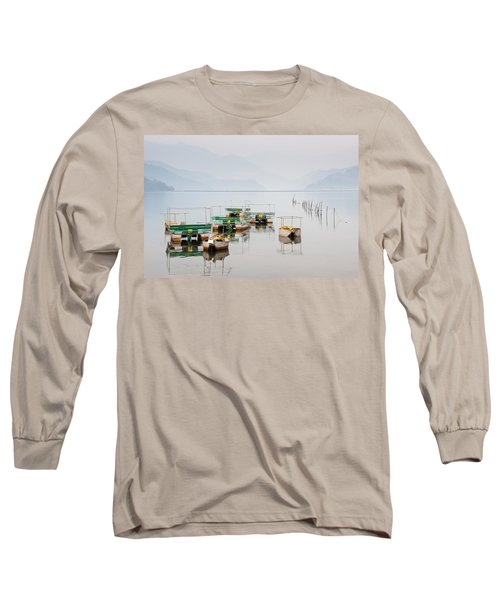 Phewa Lake In Pokhara Nepal Long Sleeve T-Shirt