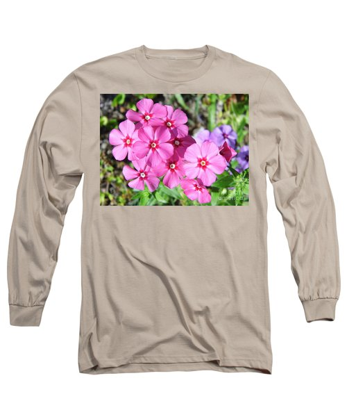 Long Sleeve T-Shirt featuring the photograph Phlox Beside The Road by D Hackett