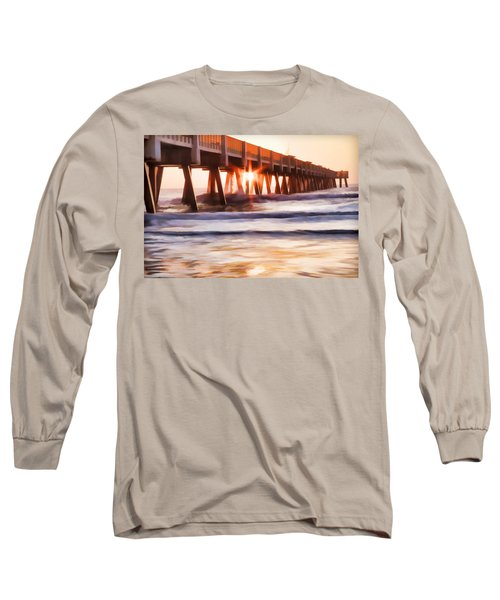 Pier Sunrise Too Long Sleeve T-Shirt