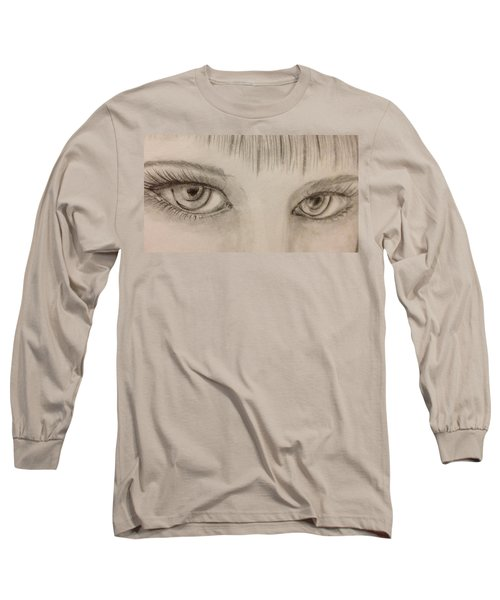 Piercing Eyes Long Sleeve T-Shirt by Bozena Zajaczkowska