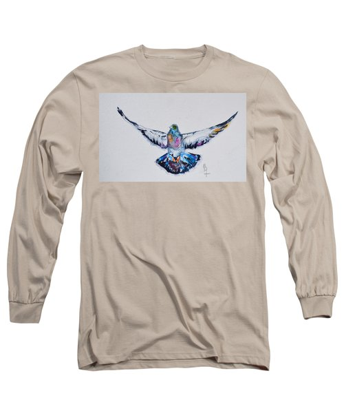 Pigeon In Flight Long Sleeve T-Shirt