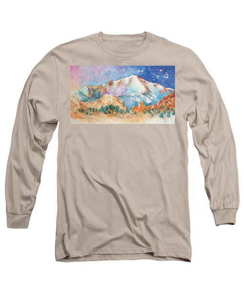 Pikes Peak Over The Garden Of The Gods Long Sleeve T-Shirt
