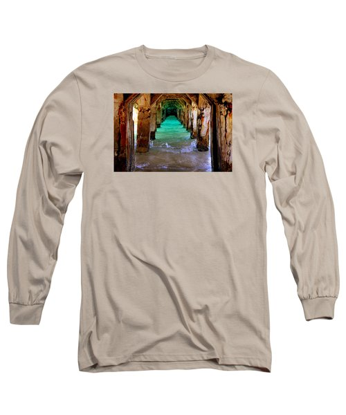 Pillars Of Time Long Sleeve T-Shirt by Karen Wiles