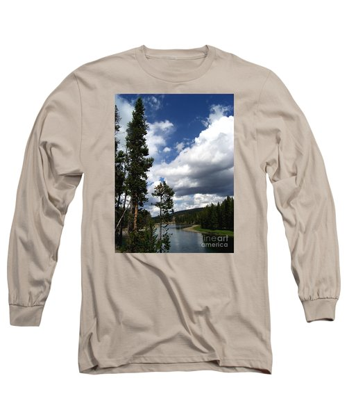 Pine On The Yellowstone River Long Sleeve T-Shirt