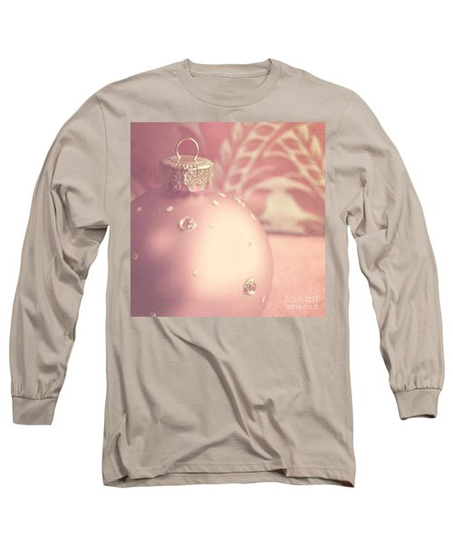 Pink And Gold Ornate Christmas Bauble Long Sleeve T-Shirt