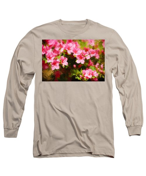 Pink Azealas Long Sleeve T-Shirt