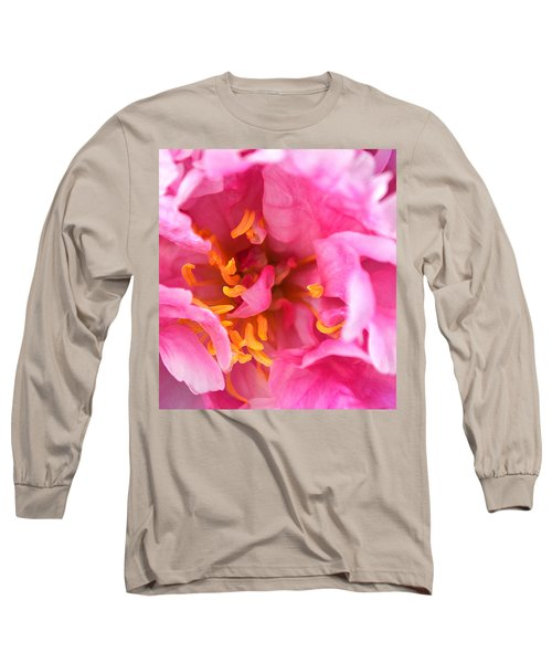 Pink Beauty Long Sleeve T-Shirt by Tine Nordbred